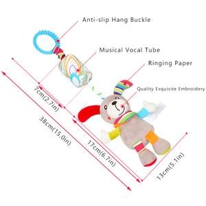 Image 2 - יילוד תינוק קטיפה עגלת צעצוע תינוק רעשנים מוביילים קריקטורה בעלי החיים תליית פעמון חינוכי בייבי 0 12 חודשים speelgoed