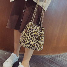 Long Chain Shoulder Bags Leopard Crossbody Bag Women Bags Leopard Print Ladies Shoulder Casual Tote Bags all seasons 812014 168 r 21 in leopard print carry on shoulder tote duffel bag red trim