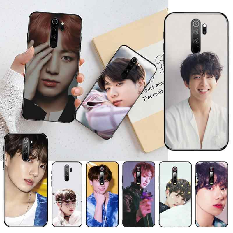 CUTEWANAN Jungkook وجوه غطاء إطار هاتف محمول ل Redmi ملاحظة 8 8A 7 6 6A 5 5A 4 4X 4A الذهاب برو زائد رئيس