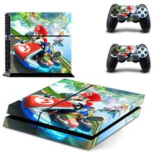 PS 4 Sticker Mario Play station 4 Stickers, PS4 Vinyl Skin Decal Pegatinas Adesivo For PlayStation 4 console and 2 controller