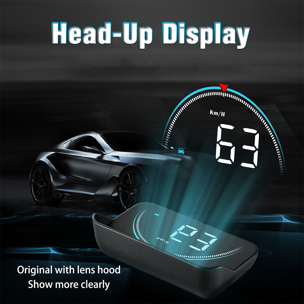 HUD 3.5inch Overspeed Warning Safe Driving Reminder Auto Head Up Display Alarm Car Universal Windshield Projector Accurate