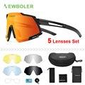 NEWBOLER поляризационные спортивные мужские солнцезащитные очки  дорожные велосипедные очки  защита для горного велосипеда  верховой езды  очк...