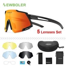 NEWBOLER Polarized Sports Men Sunglasses Road Cycling Glasse