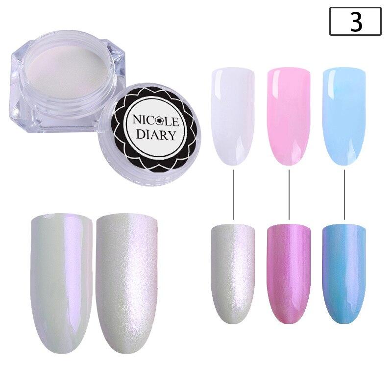 1 коробка жемчужный блеск для ногтей порошок зеркальный матовый эффект блеск Лазерная пыль Маникюр мерцающий пигмент украшение для ногтей - Цвет: 2g