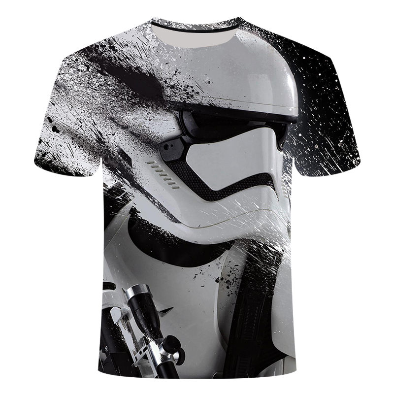 2019New Camisetas Hombre Novelty Star Wars <font><b>Men</b></font> <font><b>T</b></font>-<font><b>Shirts</b></font> Tshirts 3D Print Tops O-Neck Short Sleeve Male Funny Tees size S-<font><b>6XL</b></font> image