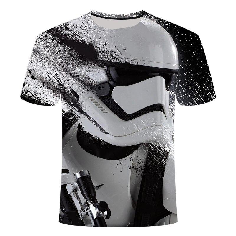Camisetas Hombre 2019New Novidade Star Wars Homens Camisetas Topos de Impressão O-pescoço de Manga Curta Masculina Camisetas Engraçadas Tshirts 3D tamanho S-6XL