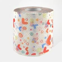 3packs 30m/pack color love heart napkin Roll Dollar Bill Toilet Paper Novelty Tissue Christmas Wholesale