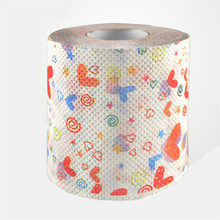 3packs 30m/pack color love heart napkin Roll Dollar Bill Toilet Paper Novelty Toilet Tissue Christmas Wholesale(China)