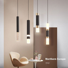 Nordic Pendant Light Dual Light Sources Shine Up And Down Droplight Fixture Kitchen Dining Room Shop Bar Counter Decoration