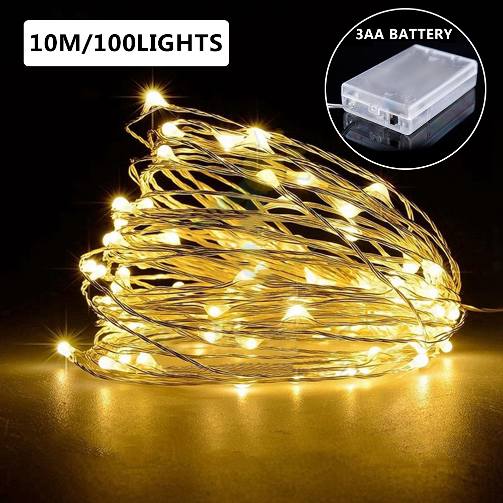 1/2/3/4/6/8/10M Copper Wire LED String Lights Holiday Lighting Fairy Lights Christmas Garland For New Year Wedding Xmas Decor