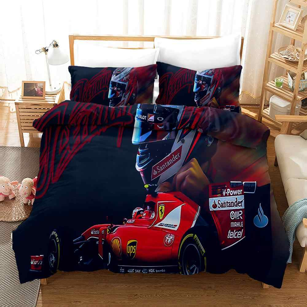 Racing Car Duvet Cover Set,Racing Sports Cars Pattern Quilt Cover with Pillowcase,Home Bedroom Decorative Microfiber Bedding Set