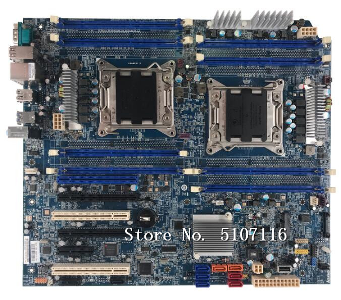 High quality desktop motherboard for C30 workstation motherboard <font><b>C602</b></font> dual X79 motherboard 03T6730 will test before shipping image