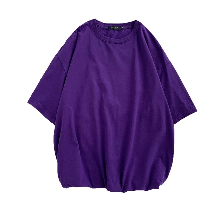 2020 Men Short Sleeve T-Shirt Men's Trendy Summer Street Hip Hop Loose Retro Couple Tops Personality Cotton Half Sleeve