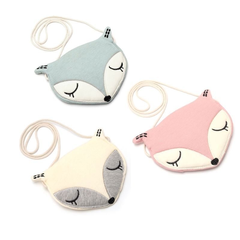 Adorable Fox One Shoulder Diagonal Messenger Bag Coin Purse For Girl And Student