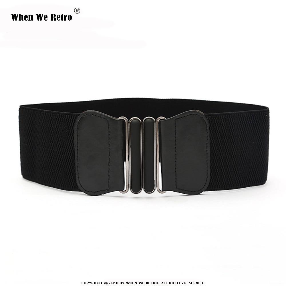 When We Retro Designer Belts For Women Ladies Fashion Black Red Camel Brown Elastic Corset Wide Waist Belt Vb0034 Women S Belts Aliexpress