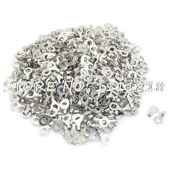 RNB3.5-6 Ring Type Non-Insulated Spade Cable Terminals 1000pcs for AWG 14-12