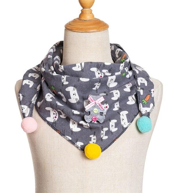 Весенние клетчатые треугольные шарфы в горошек для маленьких девочек; осенне-зимняя шаль для мальчиков и девочек; Детские хлопковые воротники; теплый детский шейный платок - Цвет: A2