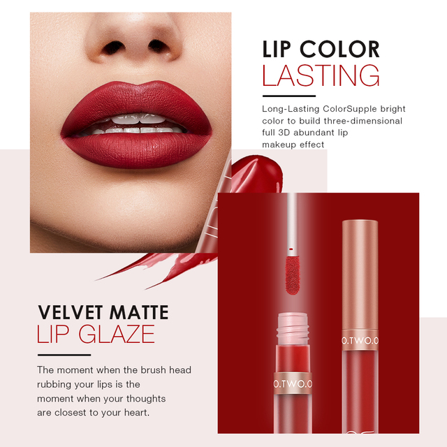 O.TWO.O Pigment For Lip Gloss Matte Velvet Makeup Waterpoof Long Lasting Liquid Lipstick Nude Brown Red Color For Women 3