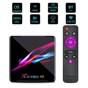 Image 2 - X88 pro x3 8k caixa de tv amlogic s905x3 quad core 64bit 4k @ 60fps 4g 128g android 9.0 conjunto caixa de topo smarttv
