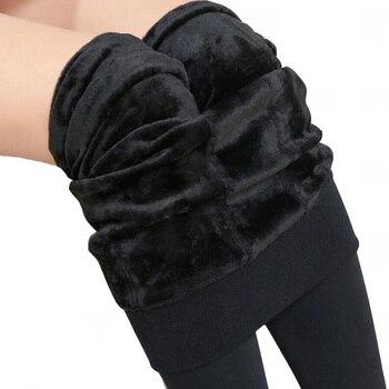 Winter Leggings Knitting Velvet Casual Legging New High Elastic Thicken Lady's Warm Black Pants Skinny Pants For Women Leggings 2