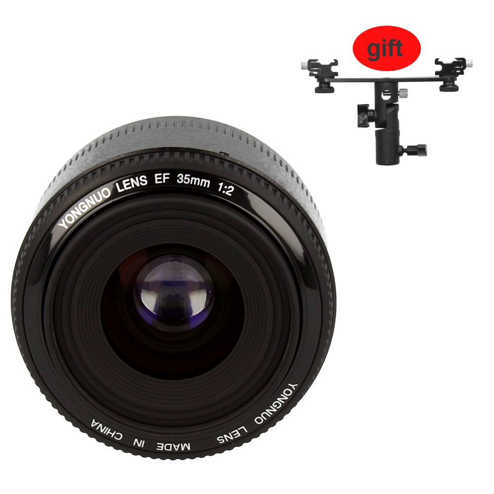 <font><b>YONGNUO</b></font> YN <font><b>35mm</b></font> F2 Camera Lens Lens 1:2 AF / MF Wide-Angle Fixed / Prime Auto Focus Lens for <font><b>Nikon</b></font> for Canon image