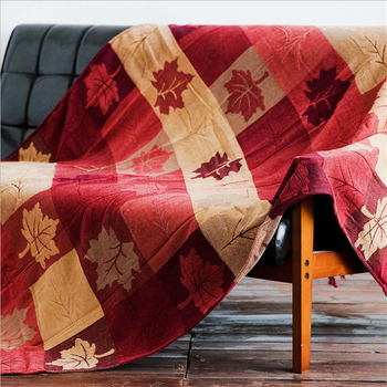 Chunky Knit Blanket Bohemian Spring and Autumn Maple Leaf Pattern Sofa Blanket Christmas Decorations for Home Weighted Blanket
