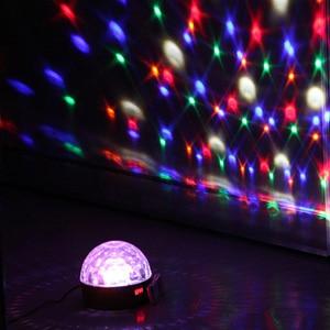 Image 4 - 9 Colors Magic Ball Effect Light Led Stage Party Lamp DMX 512 controller DJ Par Light Voice activated Stage Lights Lumiere Laser