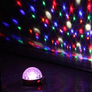 Image 4 - 9 色マジックボール効果光ledステージパーティーランプdmx 512 コントローラーdjパー光音声起動ステージライトリュミエールレーザー