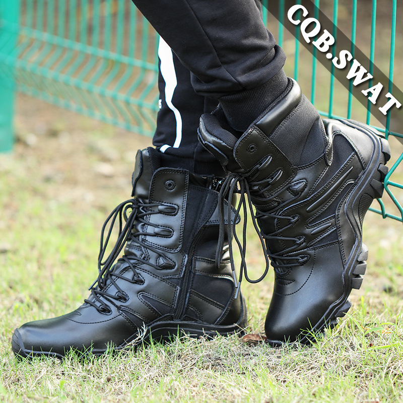 Hight-top Black Dragon Combat Boots Training Shoes Tactical Boots Size Completed Comfortable Breathable