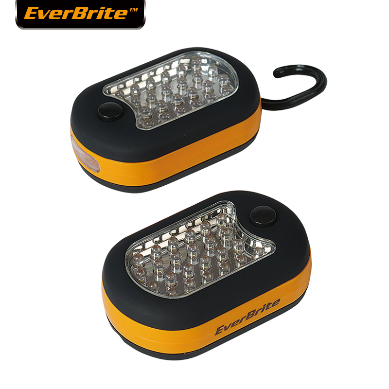 Everbrite 27 LEDS Work Light LED Soap Light Emergency Light for Camping Hiking Running with Hook