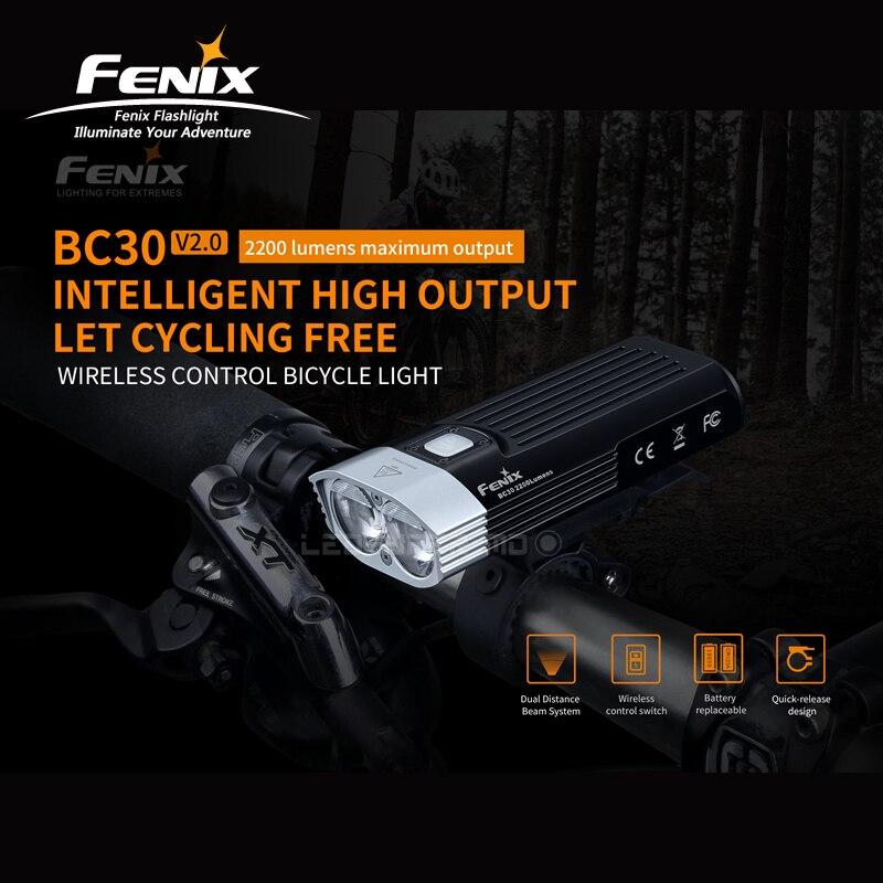 Intelligent Fenix BC30 V2.0 2200 Lumens High Output Wireless Control Bicycle / Bike Light With Kits