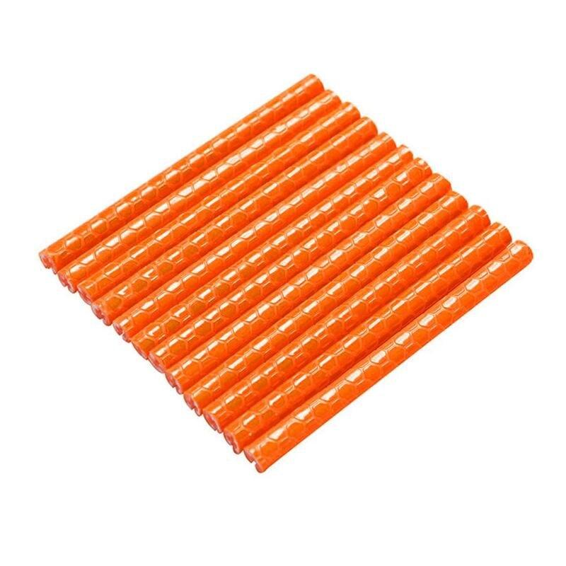 12 шт. Велосипедное колесо спиц отражатель светоотражающее крепление Предупреждение ющий зажим полосы R8M5 - Цвет: orange