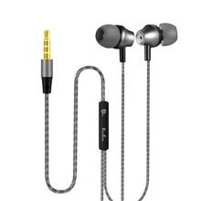 PunnkFunnk Metal derin bas Stereo spor kulak kulaklık W/Mic ses kontrolü iphone 5 6 7 8 x xr