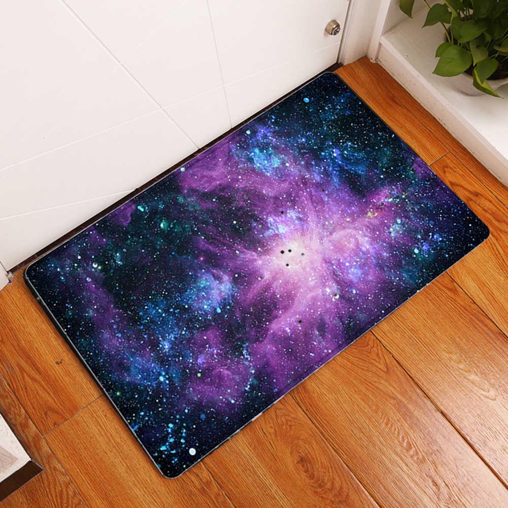 Galaxy flanela antypoślizgowa absorpcja wody wycieraczka do butów dywan podłoga wystrój łazienki drzwi dywan ozdoby choinkowe dla domu