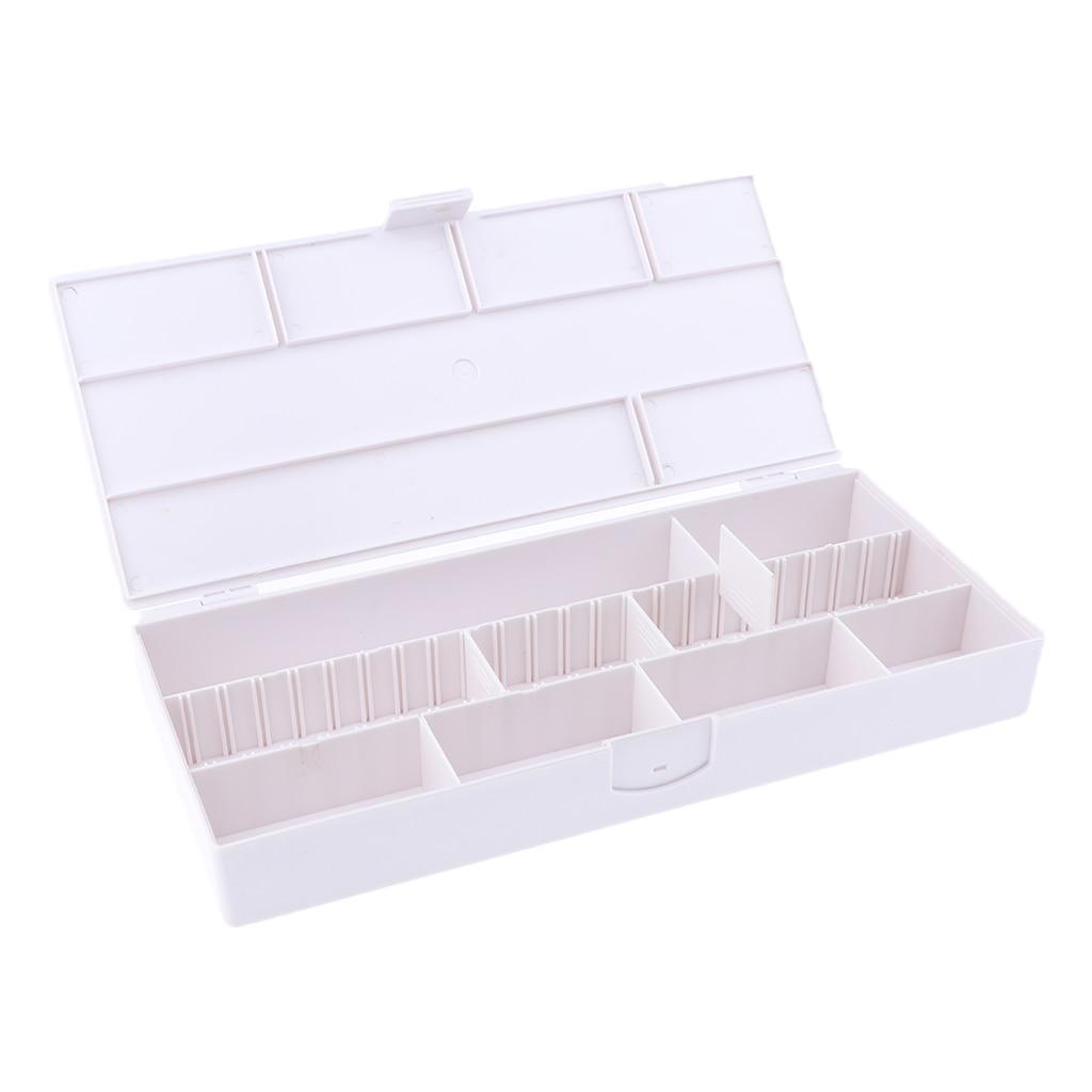 caixa de armazenamento do prego vazio transparente 01