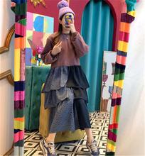 Повседневное платье для женщин в Корейском стиле с круглым вырезом