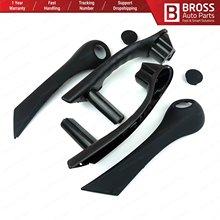 Bross BDP794 poignée de porte intérieure avant poignée de maintien couleur noire gauche et droite 7701475316, 7701475315 pour Renault Megane MK2 2002-09