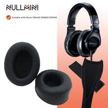 NullMini Replacement Earpads Headband for Shure SRH440 SRH840 SRH940 Headphones Leather Sleeve Earphone Earmuff