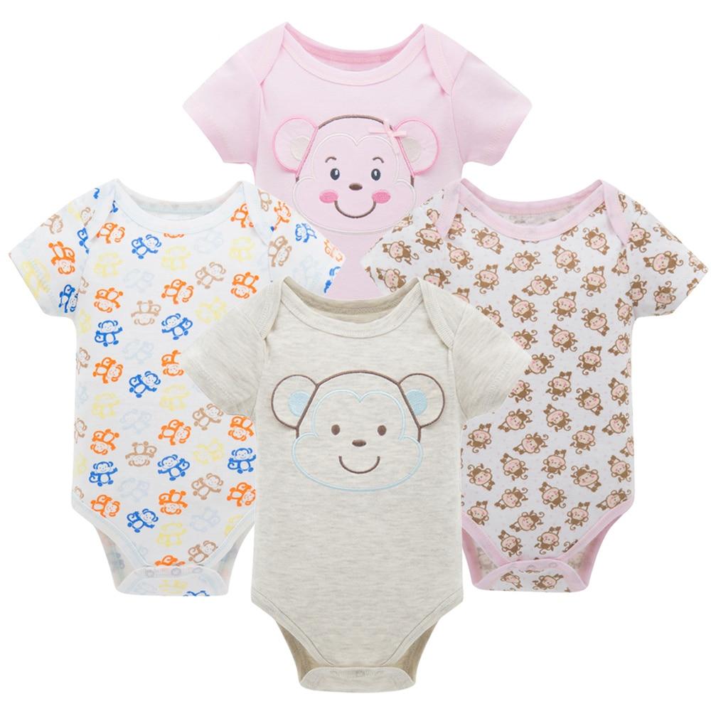 Honeyzone Пижама для младенцев 4 шт./компл. короткий рукав новорожденных Пижама для маленьких мальчиков/младенцев Одежда для маленьких мальчиков bossa nova - Цвет: HY20792083