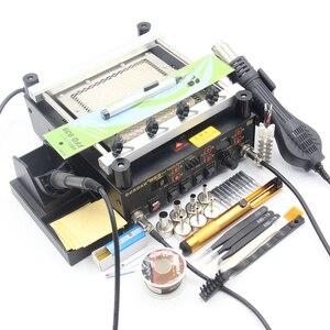 Image 4 - Gordak station de soudage numérique 3 en 1, pistolet à Air chaud, machine de retouche électrique BGA, fer à souder à infrarouge 863