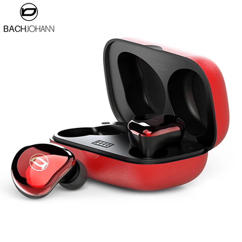 BachJohann T7 Bluetooth 5.0 Earphone TWS Ture Wireless Headphones Sports Bass Earbuds Handsfree Call with Mic for iPhone Android