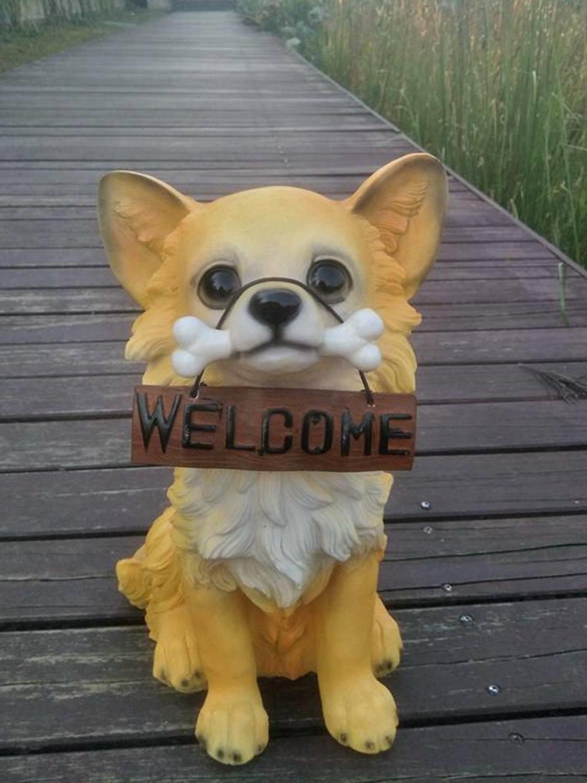 1/1 Simulation Animal grand chien mignon Canis Lupus Familiaris résine Statue Art artisanat Figure modèle décor noël cadeau jouet D828