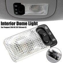 Car Interior Light Reading Ceiling Light Lamp Switch For Peugeot for Citroen Berlingo Xsara C1 Partner 107 108 206 306 406 806