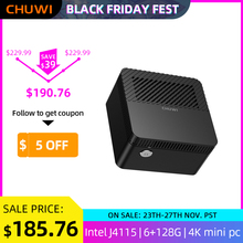 Chuwi larkbox 4k mini pc intel celeron j4115 quad core 6gb ram 128gb rom windows 10 desktop computador hdmi USB-C