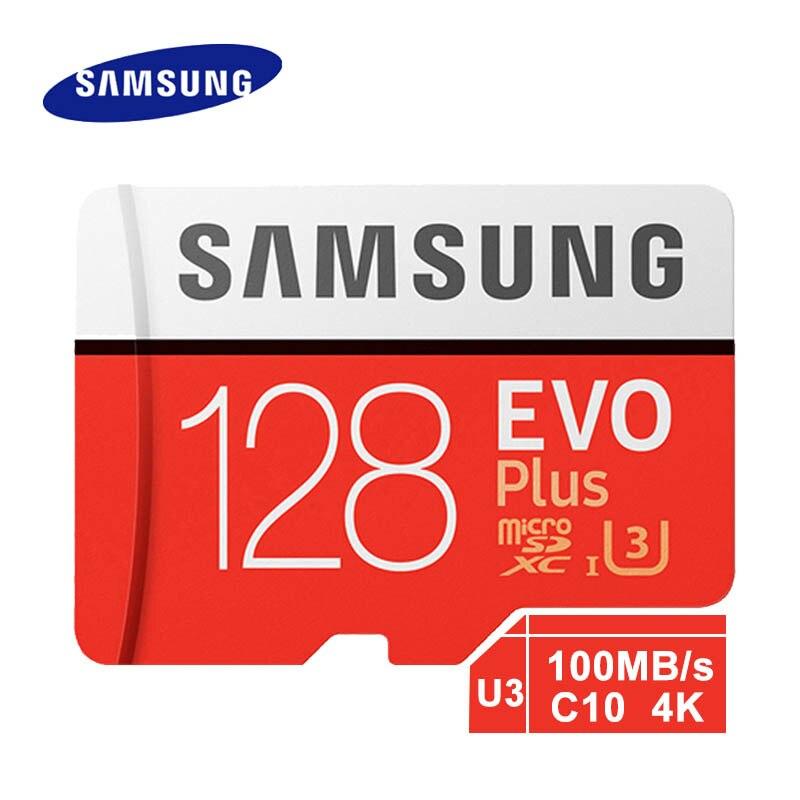 Carte Micro SD dorigine Samsung EVO Plus 128 go Class10 C10 100 mo/s SDXC UHS-1 mémoire Flash