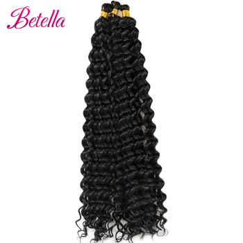 Deep Water Wave Twist Crochet Hair Crochet Braid Ombre Braiding Hair Extensions Synthetic Afro Curls For Women Low Tempreture 5