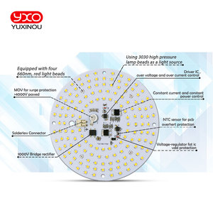 Image 2 - driverless ac 220v led grow light high tech led board LM301H Full spectrum 100w samsung 3000K,660nm Deep Red For Veg/Bloom