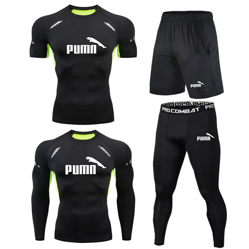 running - Men Sportswear Compression Sports Suits Quick Dry Running Sets Clothing Sports Joggers Training Gym Fitness Tracksuits Running