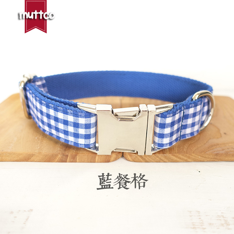 New Products Pet Dog Collar Blue Plaid Dog Collar Cool Origional Pet Supplies New Style