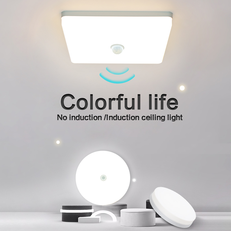 Neutral light LED Ceiling Lights Round Square Energy Saving 36W 48W Bedroom LED  Sensor Ceiling Lamp for living room bathroom